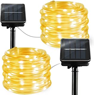 LiyuanQ Solar String Lights Outdoor Rope Lights, 2 Pack 8 Modes 100 LED Solar Powered..