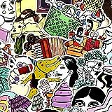 ZHXMD Horror Comics Thriller Horror Style Toy Sticker Equipaje Trolley Laptop Sticker Graffiti Sticker 50 Uds