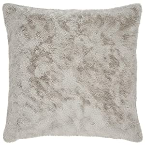 Add a touch of luxury to your room with this plush pillow. Amazingly soft faux fur exudes glamour along with warmth and coziness. For a different look, flip it over to the solid grey side. Neutral grey will enhance any style bedroom. Pillow cover fea...