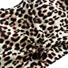 ZAFUL Women's Scoop Neck Tropical Leaf Knotted Two Pieces Tankini Set Swimsuit (A-Black+Leopard, XL) #3