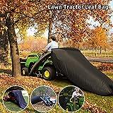 ORTIGIA Lawn Tractor Leaf Bag,Lawn Sweeper Tow Behind,Reusable Collecting Leaves Waste Bag,Mower Leaf Bag,Bag for Cub Cadet XT1 LT42, XT1 LT46, XT2 LX42, XT2 LX46 Lawn Tractors,Black
