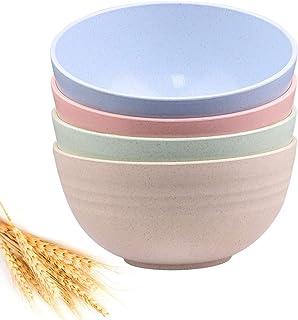 Unbreakable Cereal Bowls – 24 OZ Wheat Straw Fiber Lightweight Bowl Sets 4 –..