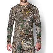 Under Armour Men's UA TechTM Scent Control Long Sleeve T-Shirt,REALTREE AP-XTRA/Velocity,Large