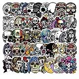 BLOUR 50pcs / Pack Symphony Horror Skull Pegatinas de Halloween Moda Graffiti para Maleta refrigerador Coche Scooter Juguetes geniales para niños