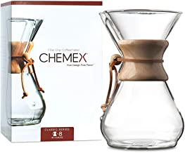 CHEMEX Pour-Over Glass Coffeemaker – Classic Series – 8-Cup – Exclusive Packaging