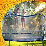 ThrillZoo Trampoline Waterpark Heavy Duty Trampoline Sprinkler Hose - Trampoline Accessories Fun Summer Outdoor Water Game Toys for Boys, Girls and Adults – Attach Tool Free on Safety Net Enclosure (Toy)