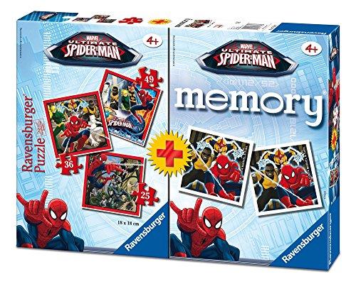 Ravensburger 07359 7 - Ultimate Spiderman Multipack, 3 Puzzle + 1 Memory