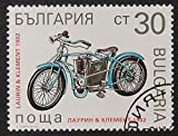Laurin & Klement 1902 Motorcycles & Motorbike Bulgaria -Framed Postage Stamp Art 9467
