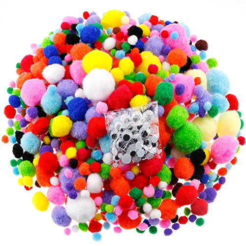 Assorted Pompoms with 4 Sizes