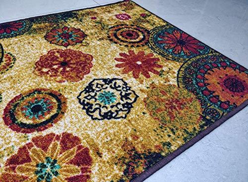 Chakra 2 tappetini Poliestere Pavimento Tappeto Super Assorbente Eco-friendly in lattice antiscivolo...