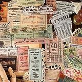BLOUR 60 unids/Pack Sello de factura Vintage periódico Pegatinas de papelería Decorativas Scrapbooking DIY Diario álbum Stick Etiqueta