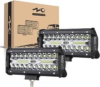 7inch LED Light Bar, 240W 24,000LM Offroad Fog Light Driving Lights LED Pods with Spot..