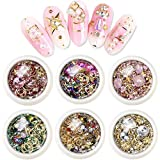 EBANKU 6 boîtes Kit strass nail art Kit strass ongles, 3D Strass à Ongles Art...