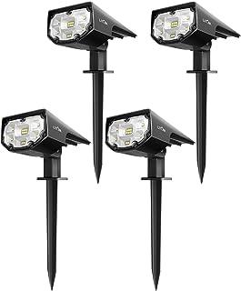 LITOM 12 LEDs Solar Landscape Spotlights, IP67 Waterproof Solar Powered Wall Lights..
