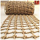 XXN Climbing Netting,Children's Outdoor Development Training Rope Protective Net,Safety and Environmentally Friendly Strong and Wear Resistant Even Thickness Hemp Twisted Manila Natural Cotton Jute