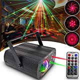 Disco Light DJ Light Party Light Stage Light + Water Wave Light 2 in 1 Strobe Light Sound Activated with Remote Control Projection Effect great for Party KTV Bar Stage Club Birthday Wedding Christmas