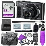 Canon PowerShot SX620 HS Digital Camera (Black) with 32GB SD Memory Card + Accessory Bundle