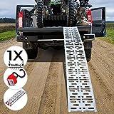 Rampe de Chargement - Lot de 1 ou 2 Pièces, Pliable, en Aluminium, Charge max....