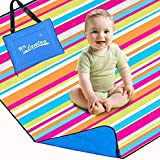 Lantoo Extra Large Outdoor Picnic Blanket 79'x79', Extra Soft Portable Beach Blanket Mat W/Compact Tote, Foldable, Machine Washable for Camping Hiking Travel