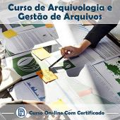 Curso Online de Arquivologia e Gestão de Arquivos com Certificado