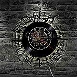 xcvbxcvb Nota Musical Clef Music Studio Disco de Vinilo Reloj de Pared Icono de música y Symbles Rock Reloj de Pared Reloj de Pared Regalo de Amante de la música