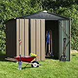 8' x 6' Outdoor Storage Sheds, Metal Utility Storage House for...