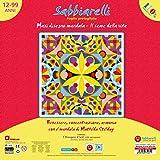 Sabbiarelli Sand-it for Fun - Poster Mandala Il Seme della Vita: Maxi Disegno Adesivo da Colorare con la Sabbia (Non Inclusa), Adatto per Adulti e Bambini 8+