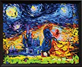 Uhomate Vincent Van Gogh Starry Night Posters Beauty and The Beast Beauty Beast Inspired Canvas Wall Art Baby Gift Nursery Decor Living Room Wall Decor A001 (8X10)