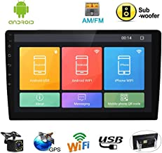 10.1 Inch Double Din Car Stereo(Support SUB) FM AM Radio Receiver Android Touch Screen..
