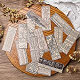 BLOUR Pegatinas de Estilo Vintage Material de Etiqueta Colgante Antiguo DIY Scrapbooking Craft Diario Álbum Junk Journal Decorativo