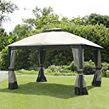 Sunjoy 110109102 Original Replacement Canopy for Windsor Gazebo (10X12 Ft) L-GZ717PST-C Sold at BigLots, Polyester