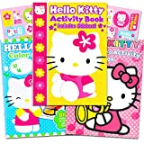 Hello Kitty Set of 3 Jumbo Coloring and Activity Books with Stickers for Kids Girls Boys