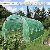 Serre de jardin   Tunnel serre de jardin   Serre de jardin tunnel 12m2 en acier galvanisé   Serre de jardin maraichère verte   Idéale pour faire pousser et protéger vos plantes en toutes saisons