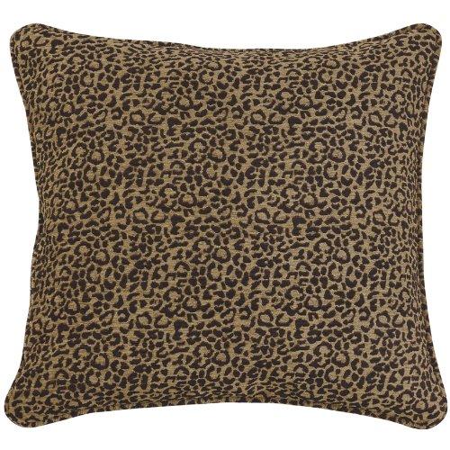 HiEnd Accents San Angelo Leopard Chenille Euro Sham Pillow Cover