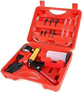 Copap 16PCS Brake Bleeder & Vacuum Pump Test Tuner Tool Kit Hand Held Vacuum Gauge..