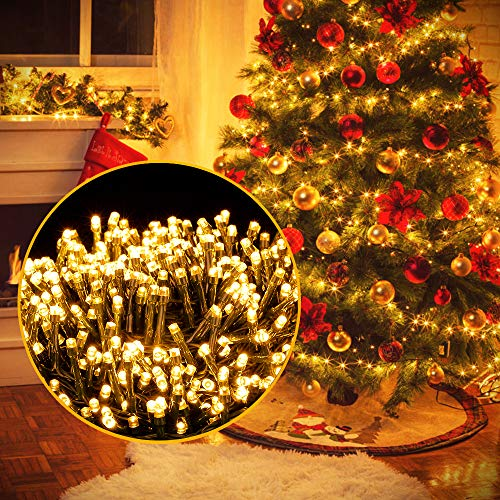 Luci Natale Esterno, Ulinek 2000LED 50M Luci Natalizie Stringa Luci Led IP44 Impermeabile 8Modalit Catena Luminosa Decorative per Albero Natale Giardino Interno Letto Festa Casa2020 Aggiornata