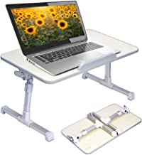 Neetto Height Adjustable Laptop Bed Table, Portable Lap Desk with Foldable Legs,..