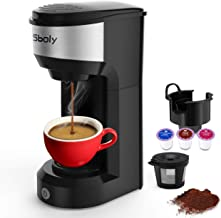 Upgrade Mini Single Serve Coffee Maker for K Cup Pods and Ground Coffee by Sboly, 90s..