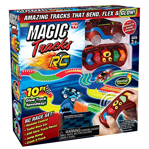 Ontel Magic Tracks RC - Remote Control Turbo Race Cars & 10 ft of...