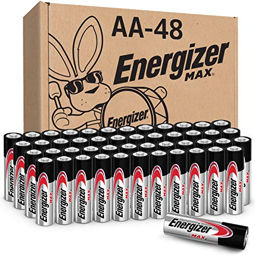 Energizer AA Batteries (48 Count), Double A-Max Alkaline Battery