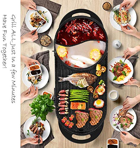 Product Image 5: Liven Electric Grill With Hot Pot SK-J6860 Multifunctional, Indoor Teppanyaki Grill/Korean BBQ/Shabu Shabu Hot Pot, 3.6L Capacity for 2-10 People