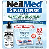 NeilMed Sinus Rinse - A Complete Sinus Nasal Rinse Kit With 60 Premixed Packets