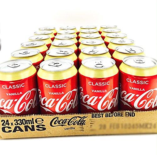 Coca Cola vanilla Refresco con gas, Sabor Vainilla - (Paquete de 24)