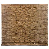 Radiance Cord Free, Roll-up Reed Shade, Natural, 60 x 72, Cocoa