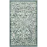 Maples Rugs Pelham Vintage Kitchen Rugs Non Skid Accent Area Carpet [Made in USA], 2'6 x 3'10, Light Spa