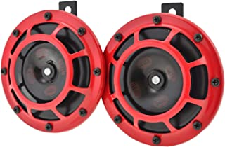 HELLA 003399801 Supertone 12V High Tone / Low Tone Twin Horn Kit with Red Protective..