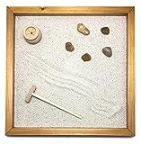 GIARDINO ZEN DA TAVOLO 25x25 2cm di legno massello ALDER lavorato artigianalmente fatto a mano - Prodotto di Qualita'
