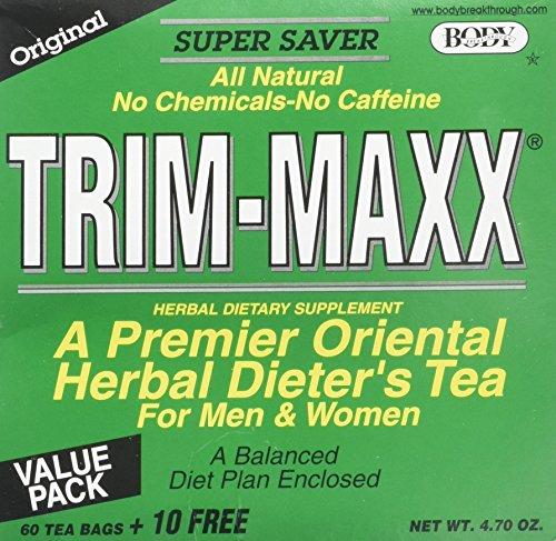 Body Breakthrough Trim Maxx Herbal Dieter's Tea -- 60 Tea Bags + 10 FREE