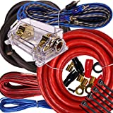 Complete 5000W Gravity 0 Gauge Amplifier Installation Wiring Kit Amp Pk1 0 Ga Red - for Installer and DIY Hobbyist - Perfect for Car/Truck/Motorcycle/Rv/ATV