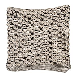 "Amazing thick texture design Made with soft cotton Spot clean only Eye-catching pillow is 18""L x 3""W x 18""H"